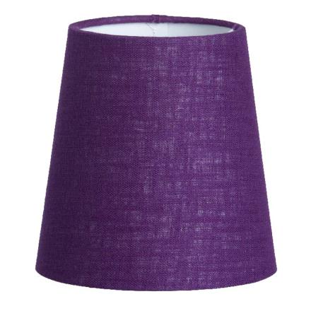 Skærm Hør 14,5 cm Lilla - Lampan