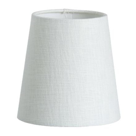 Skærm Hør 14,5 cm Hvid - Lampan