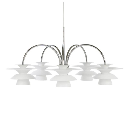 Picasso Hvid 5-armet Loftlampe - Lampan