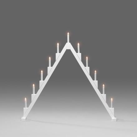 Vikbar Vit 11-Arm Adventsljusstake