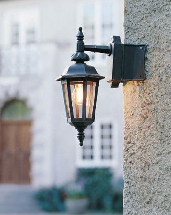 Pallas Sort Ned Ude Væglygte - Lampan