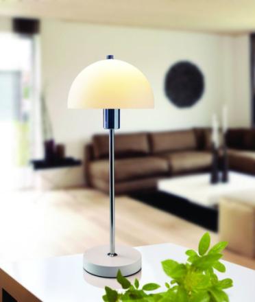 Vienda Hvid/Glas Bordlampe - Lampan