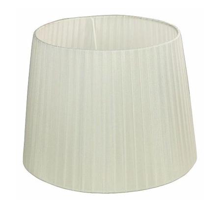 Skærm Organza 30 cm Hvid - Lampan