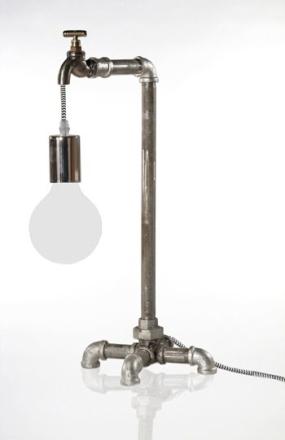Plumber Råjern Bordlampe - Lampan