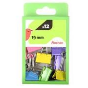 Auchan - Klipsy do papieru 19 mm, 12 szt.