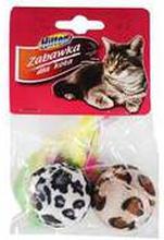 Hilton - Zabawka dla kota piłki z piórkami 4cm 2 szt