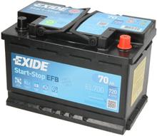 Akumulator EXIDE START&STOP EFB 70Ah 720A P+