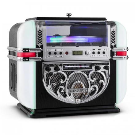 Ricatech RR700 Retro Jukebox UKW/MW CD AUX LED