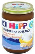 HiPP - Kaszka ryżowa z mlekiem i bananami Bio