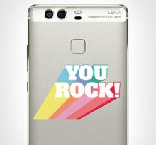 Huawei stickers you rock text