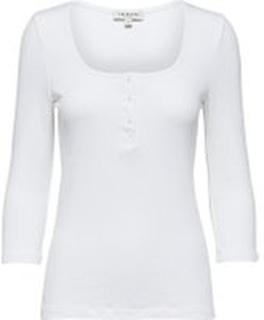 SELECTED Tight Fit - Topp Med 3/4-ärmar Kvinna White