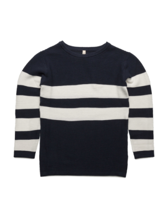 Loose Sailor Knit Navy / Off White
