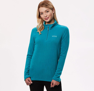 Regatta Sweethart kvinnors halv Zip Fleece Top Blå UK X Small