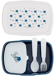 Bloomingville Blue Superhero Lunch Box with Cutlery