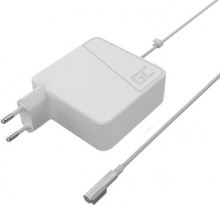 Greencell Nätadapter för Apple Macbook Pro, 85W, Magsafe, 4.5A, vit