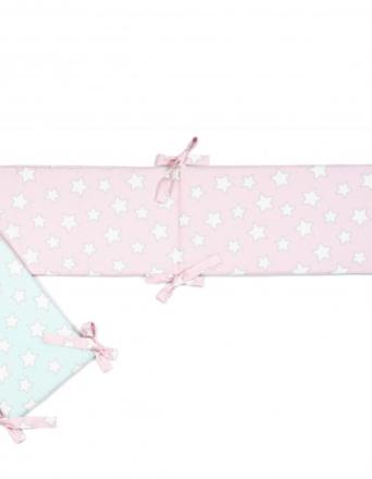 Ochraniacz do łóżeczka Pink & Mint Stars