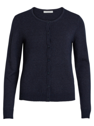 VILA Simple Knitted Cardigan Women Blue