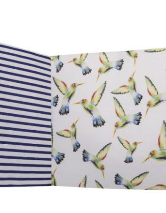 Ochraniacz na całe łóżeczko - koliberki