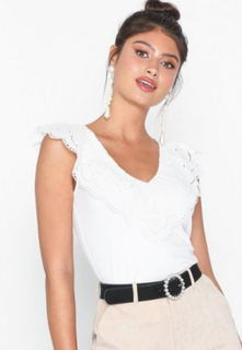 NLY Trend Lace Collar Top Linnen