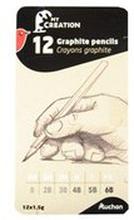 Auchan - Zestaw ołówków box 12 szt.