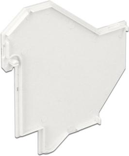 DeLOCK dækplade til DeLOCK 86212/86232, plast, hvid