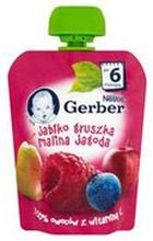 Gerber - Deserek jabłko, gruszka, malina, jagoda po 6 miesi...