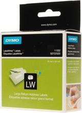 DYMO LabelWriter hvide returadresse etiketter, 54x25 mm, 1-pack(500 st