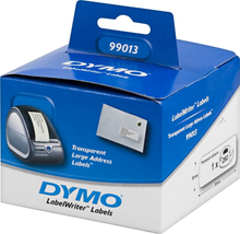 DYMO LabelWriter transparente adresse etiketter, 89x36 mm, 1-pack(260