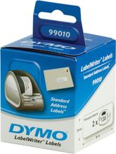 DYMO LabelWriter hvide adresse etiketter, 89x28 mm, 2-pack(260 stk.)