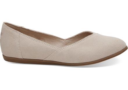 TOMS Schuhe Soft Pink Suede Jutti Für Damen - Größe 35.5