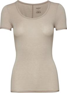 Shirt 1/2 T-shirts & Tops Short-sleeved Beige Schiesser