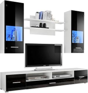JELENE Media Møbler 200 Tre / Natur / Hvit, TV-møbelsett