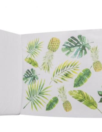 Ochraniacz na pół łóżeczka ananasowy raj