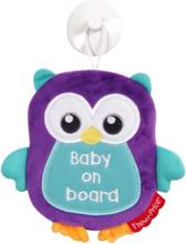 Fisher-Price Woodland Uggla med Baby On Board Skylt