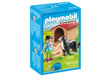 Playmobil 70136 hund med hundehus - playmobilbutikken