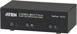 ATEN VGA-Switch 2 computere til 1 skærm, 1x HD-15 hun, 2x HD-15 han,