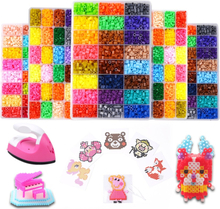 24 Perler Beads Kit 5mm /2.6mm Kit Hama Beads Creative 3D Puzzle Full Set with all accessories Ironing Handmade Beads Toy Gift