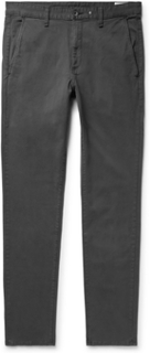 Fit 2 Slim-fit Garment-dyed Cotton-twill Chinos - Charcoal
