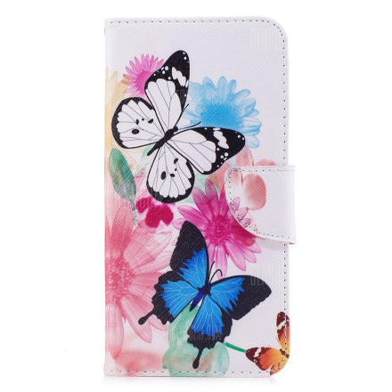 Case for Xiaomi Redmi 5 Plus Butterfly Pattern PU Leather Wallet