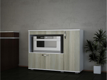 HAMIR Kjøkkenskap 118 cm Hvit/Brun, Kjøkkenskap
