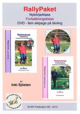 Rallypaket, Nybörjare och Fortsättning i rallylydnad inkl DVD -