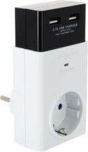 Åskskydd Energizer Grenkontakt med 1 eluttag och 2 USB-kontakter