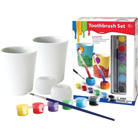 Oliver & KidsMal tannbørstesettet i porselen, 2-pakning