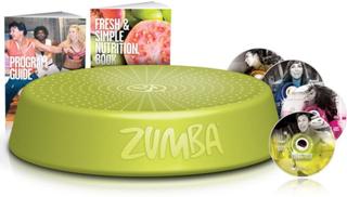 Zumba Steppkasse med 4 trenings-DVD'er grønn ZUS001