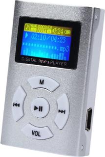 Trendig MP3-Spelare med LCD-Skärm - Silver