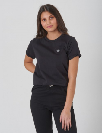 Hummel, WOLF T-SHIRT S/S, Sort, T-shirt/toppe till Pige, 128 cm - KidsBrandStore