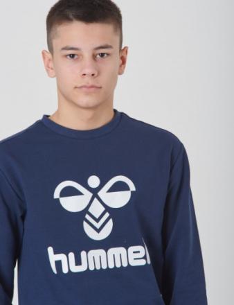 Hummel, DOS SWEATSHIRT, Blå, Trøjer/Cardigans till Dreng, 128 cm - KidsBrandStore