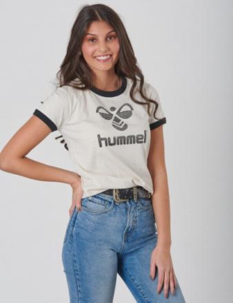 Hummel, KAMMA T-SHIRT S/S, Beige, T-shirt/toppe till Pige, 152 cm - KidsBrandStore