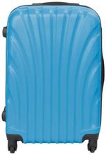 Mellem kuffert - Musling Blå hardcase kuffert - Eksklusiv rejsekuffert