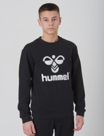 Hummel, DOS SWEATSHIRT, Sort, Trøjer/Cardigans till Dreng, 164 cm - KidsBrandStore